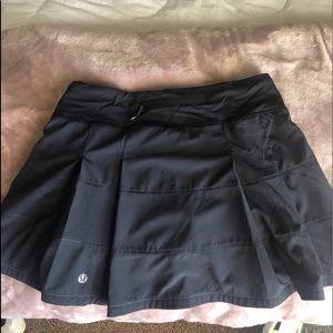 Lululemon black pace rival skirt
